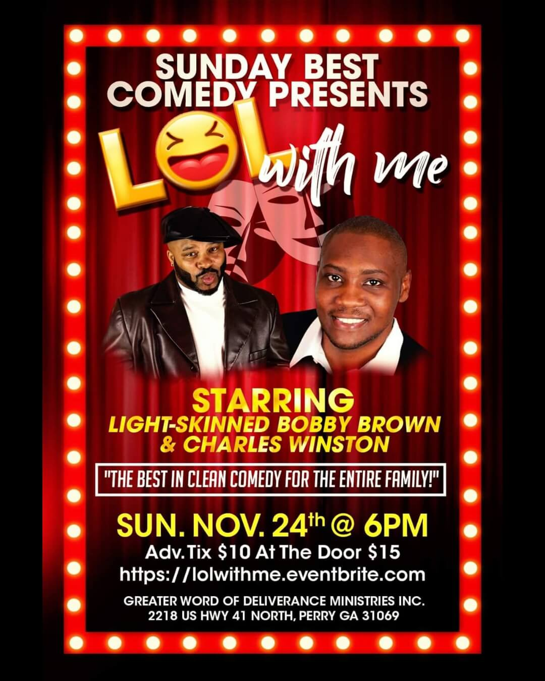 "Sunday Best Comedy Presents: ""LOL with me!"""
