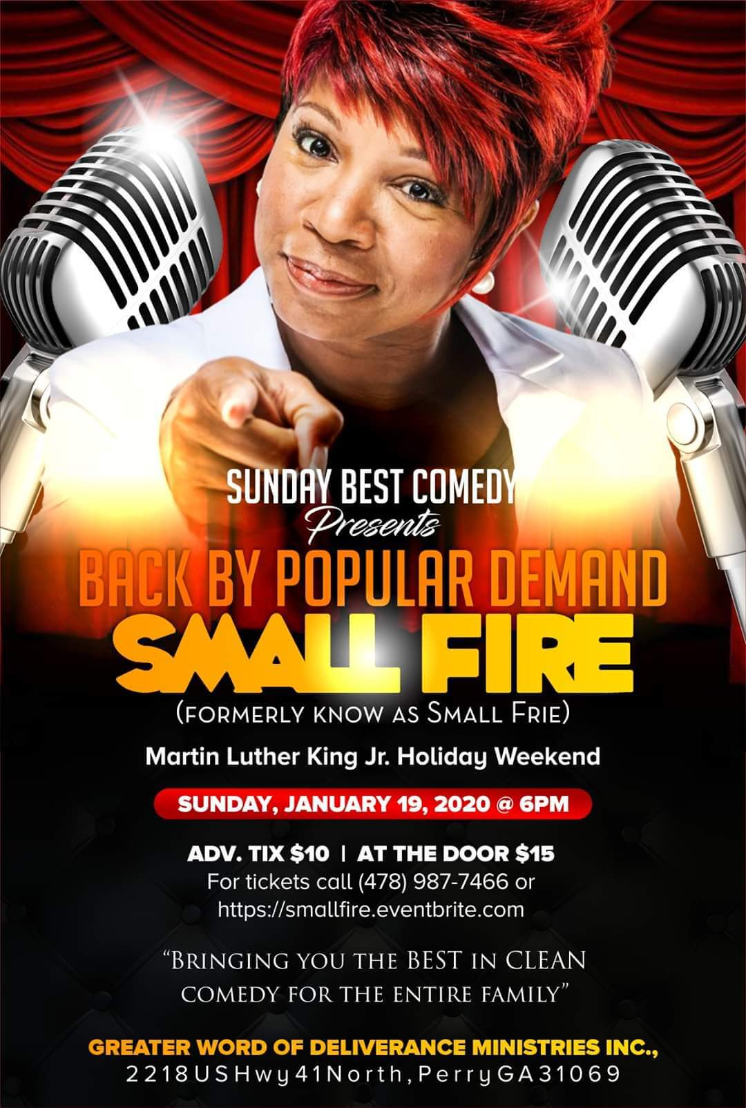 Sunday Best Comedy Presents: SMALL FIRE
